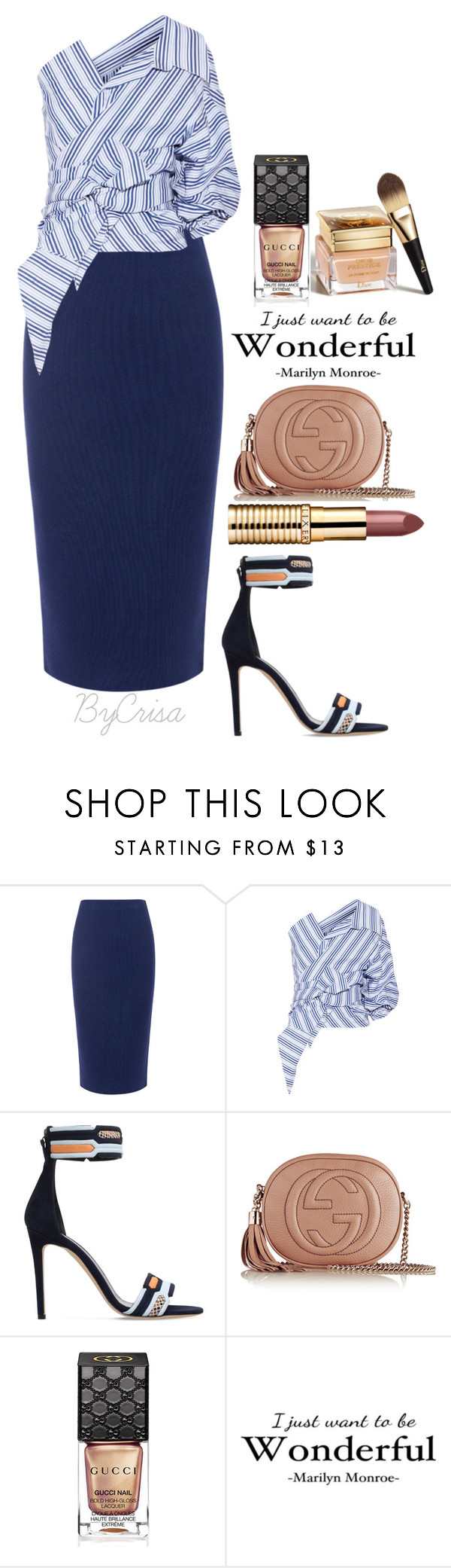 """""""Untitled #677"""" by crisa-gloria-eduardo ❤ liked on Polyvore featuring C/MEO COLLECTIVE, Johanna Ortiz, Peter Pilotto, Gucci and Christian Dior"""