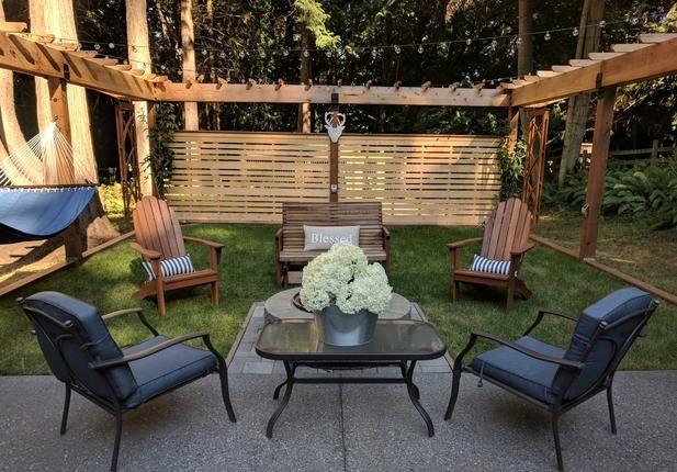 Best A Yellow Cedar Privacy Fence Defines This Backyard Retreat 400 x 300