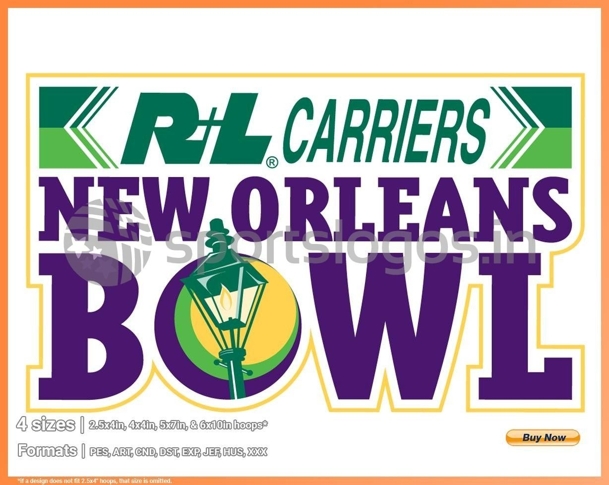 New Orleans Bowl College Sports Embroidery Logo in 4