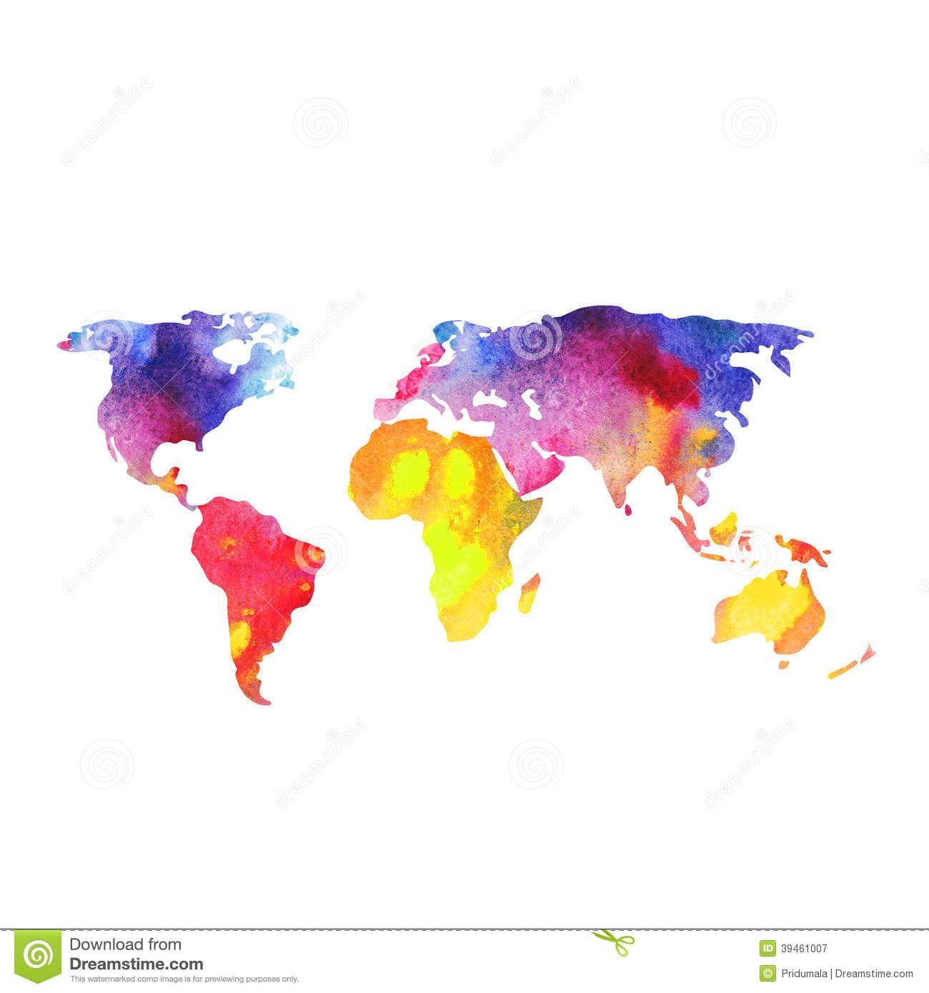 World map painted with watercolors painted world map on download world map painted with watercolors painted world map on download from over 41 million high quality stock photos images vectors sign up for free today gumiabroncs Gallery