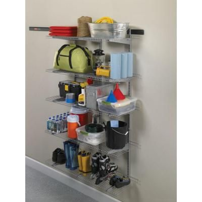 Rubbermaid FastTrack Garage 84 in. Hang Rail | Garage storage ... on lowe's rubbermaid fast track, rubbermaid fast track organizer, rubbermaid fast track system, rubbermaid fast track accessories, rubbermaid fast track 2 bicycles, garage wall track, rubbermaid fast track bike rack,