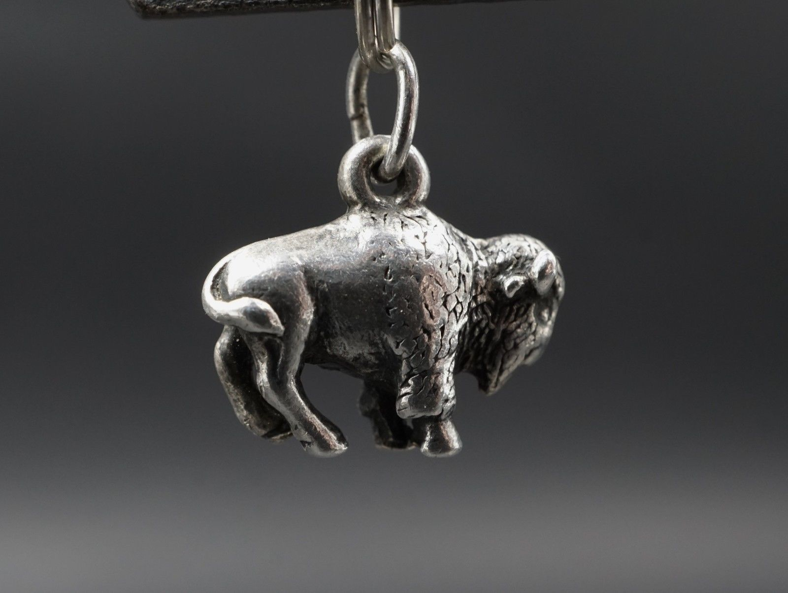 44a0185aebb14 Rare Retired James Avery Solid Sterling Silver 3d Buffalo Charm ...