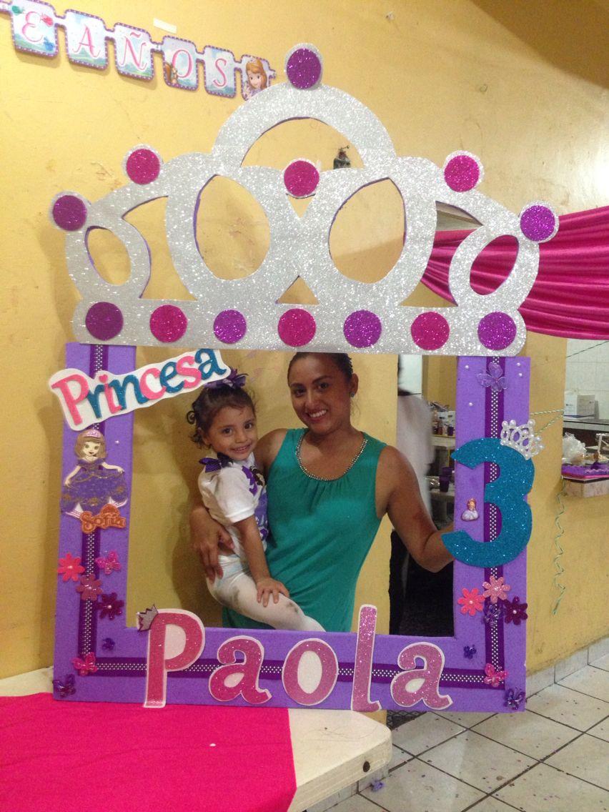 Marco de foto princesa sof a mis creaciones - Foto princesa sofia ...
