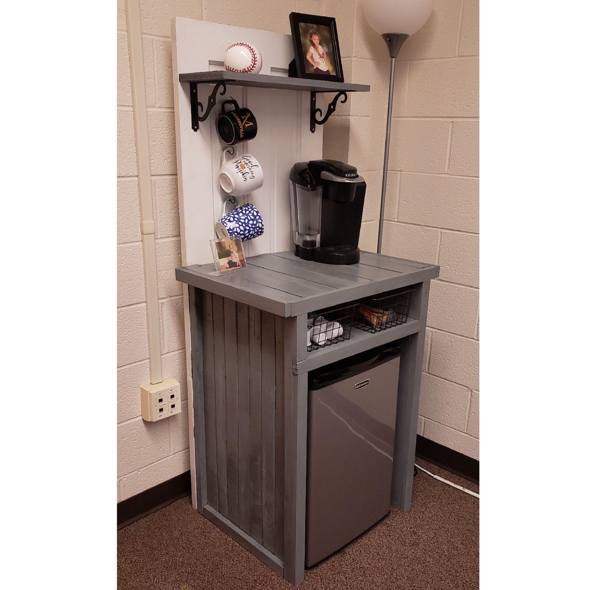 Diy Woodworking Project Diy Coffee Bar Coffee Bar Station Mini Fridge Cabinet Rustic Furniture See H Mini