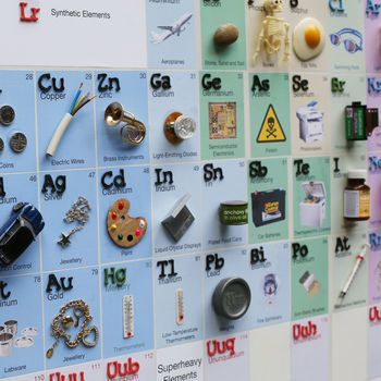 3D Illustrated Periodic Table Of The Elements
