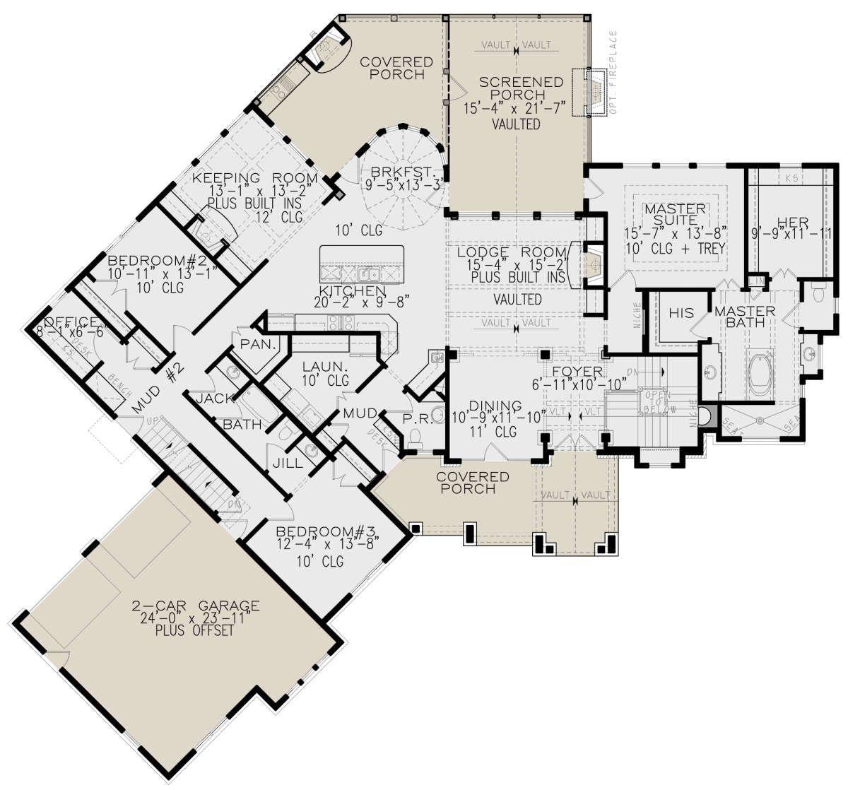 House Plan 20 20   Lake Front Plan 20,20 Square Feet, 20 20 ...