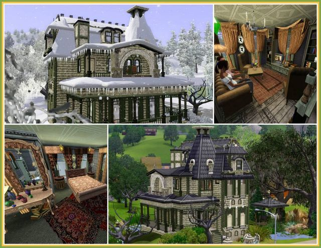 Old Victorian house No3 by JarkaD - Sims 3 Downloads CC Caboodle - new sims 3 blueprint mode