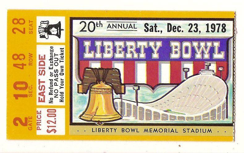 1978 liberty bowl ticket stub missouri louisiana state if
