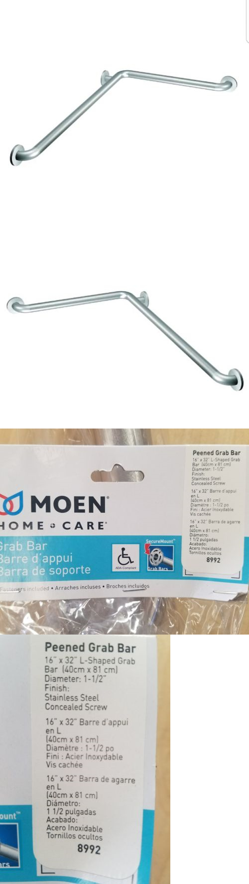 Handles and Rails: Moen L-Shaped Grab Bar 16 X 32 Stainless Steel ...