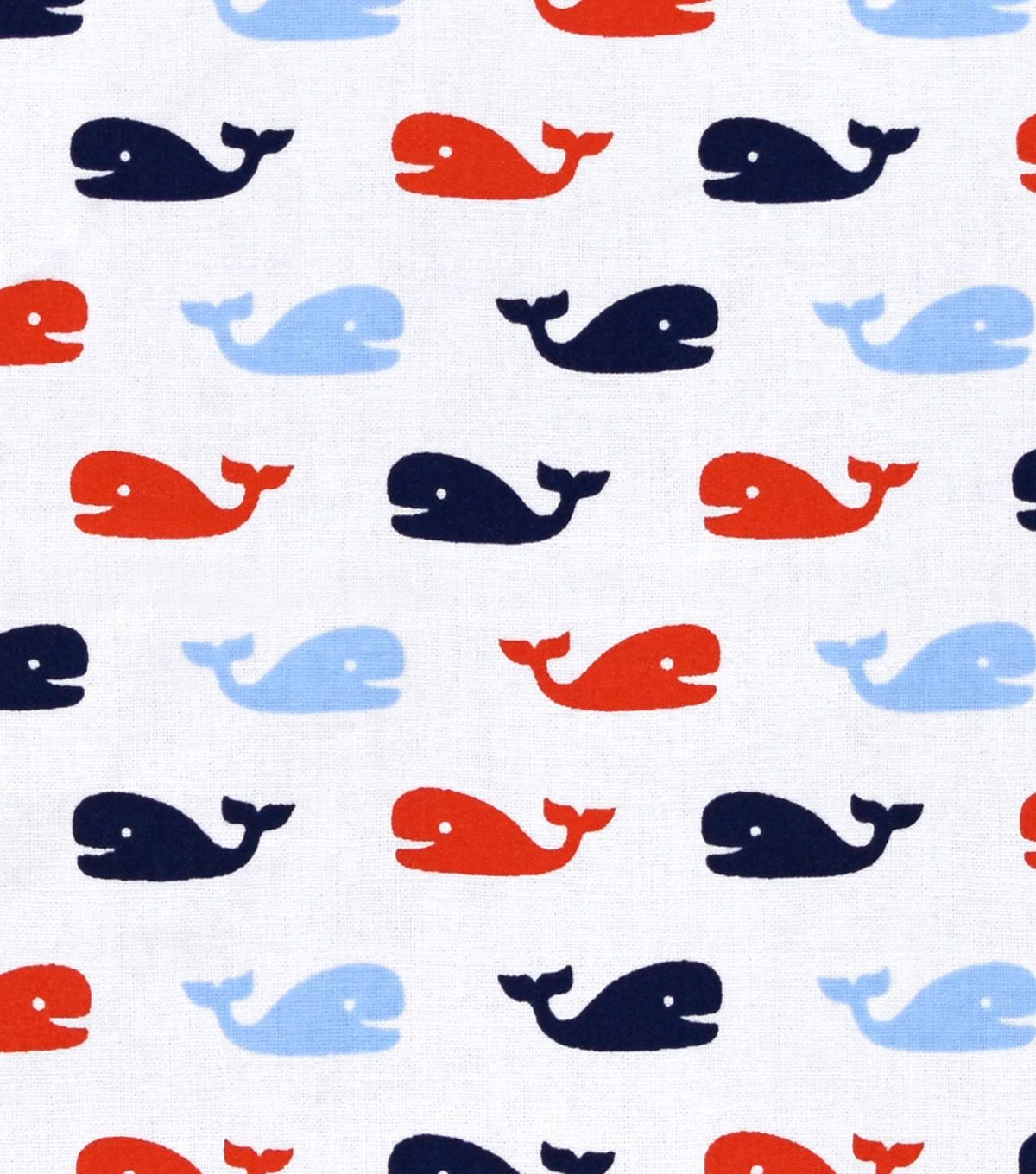 "Nursery Cotton Fabric 43""-Nautical Whales"