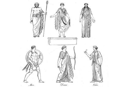 Dibujo para colorear Sacerdotes griegos y dioses | proyecto ...