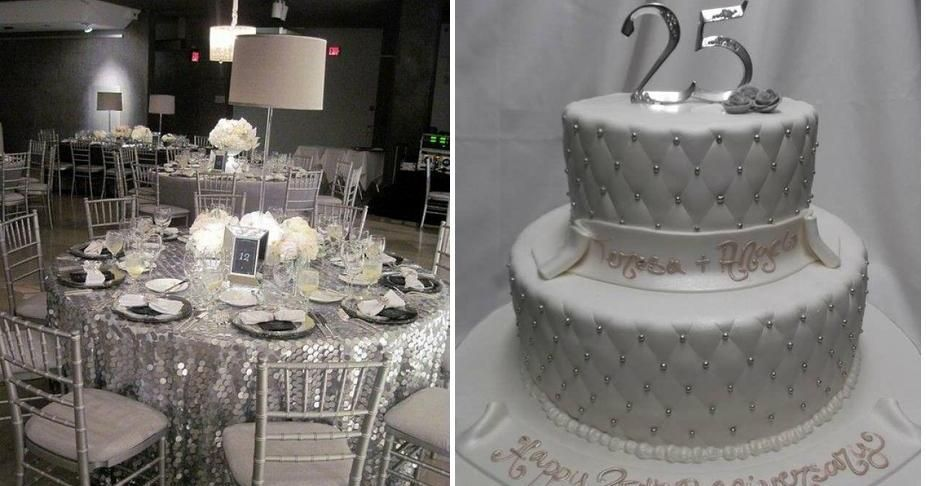 ideas para decorar la bodas de plata