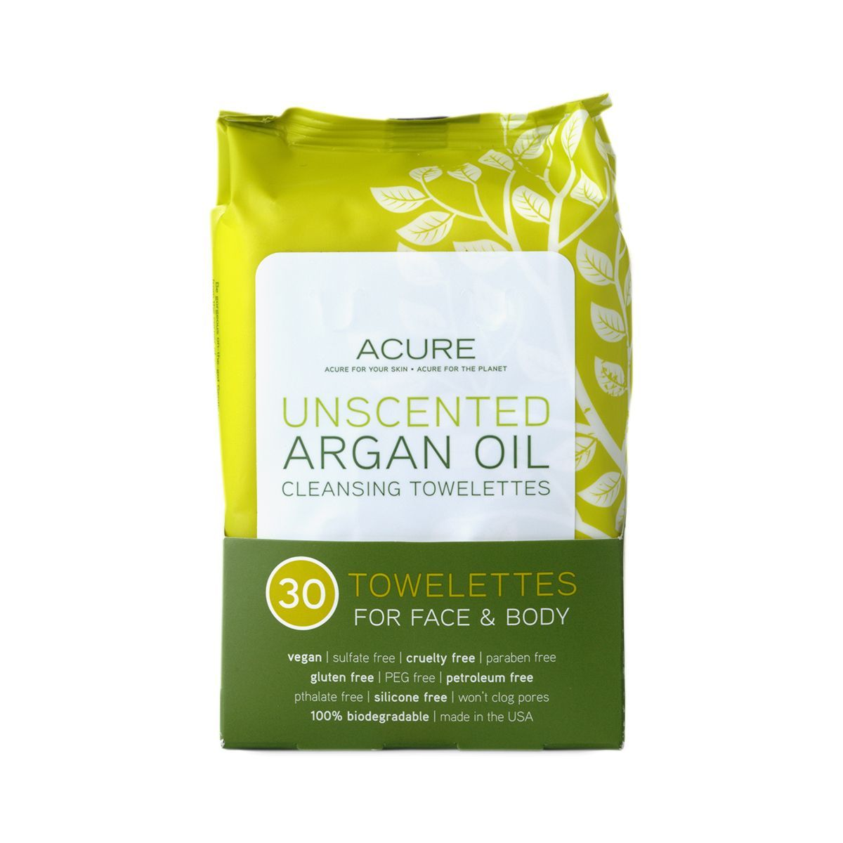 Acure Unscented Argan Oil Wipes #CoconutOilCleansingMask