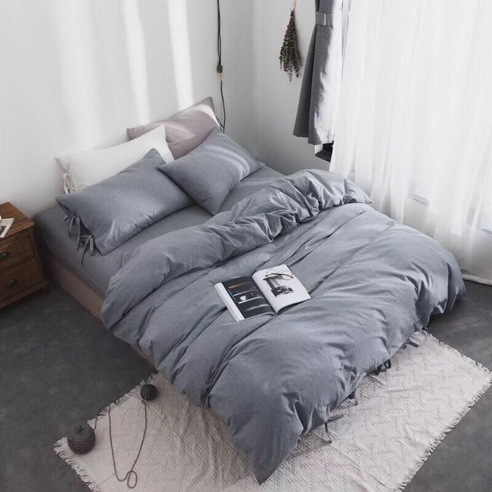 3 Piece 100% Washed Cotton Duvet Cover Set | inscoolgifts
