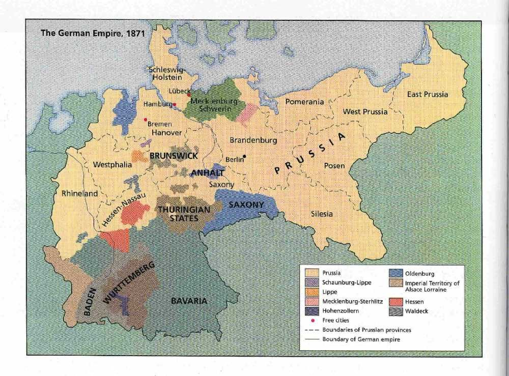 Map of German Empire, 1871 | Find Your Roots - Germany ...