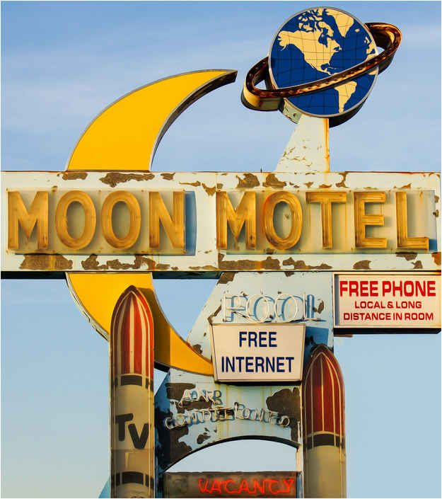 You sleep at some interesting motels.