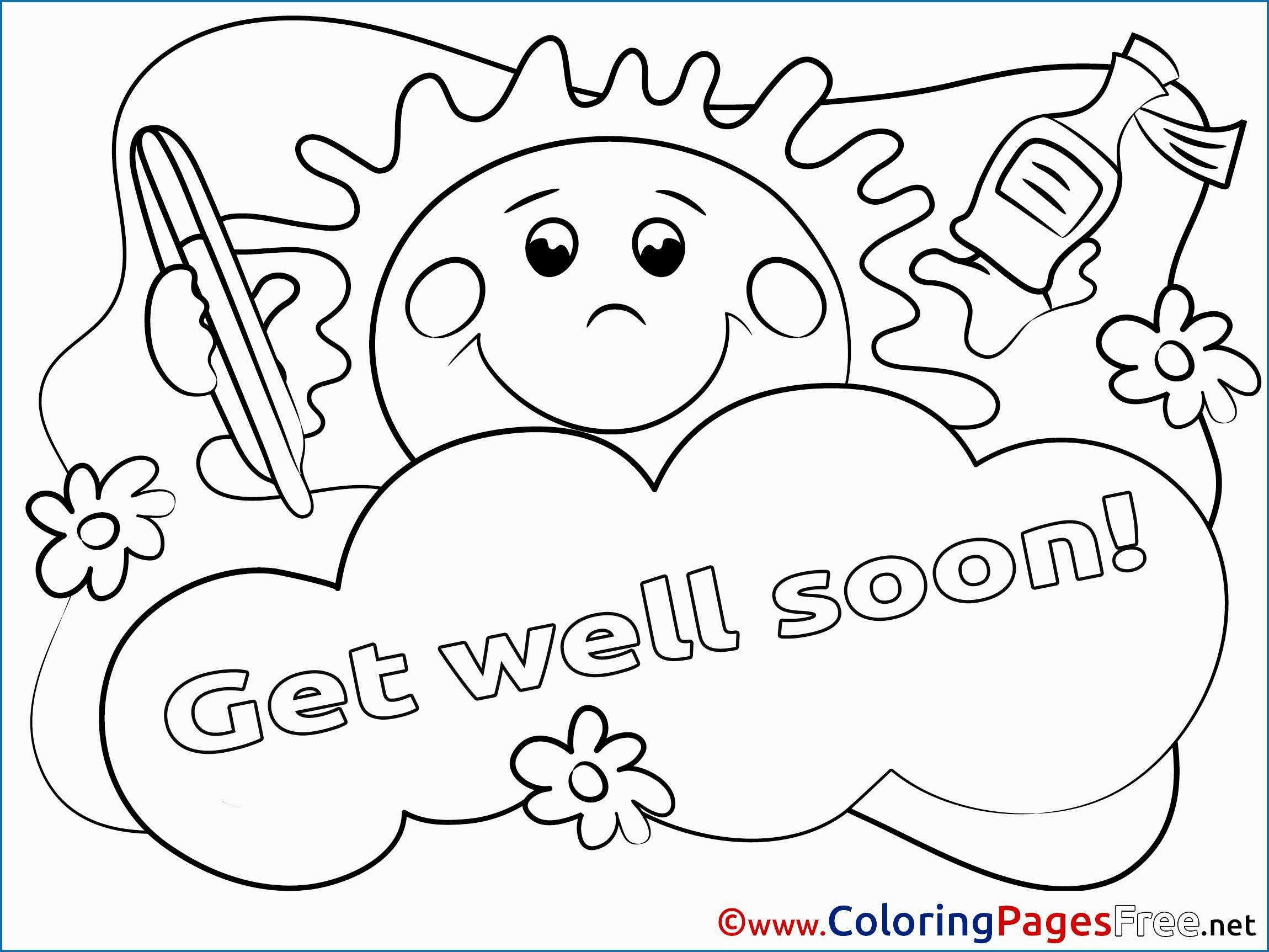 - Get Well Coloring Pages Get Well Soon Coloring Pages Cute Sun For
