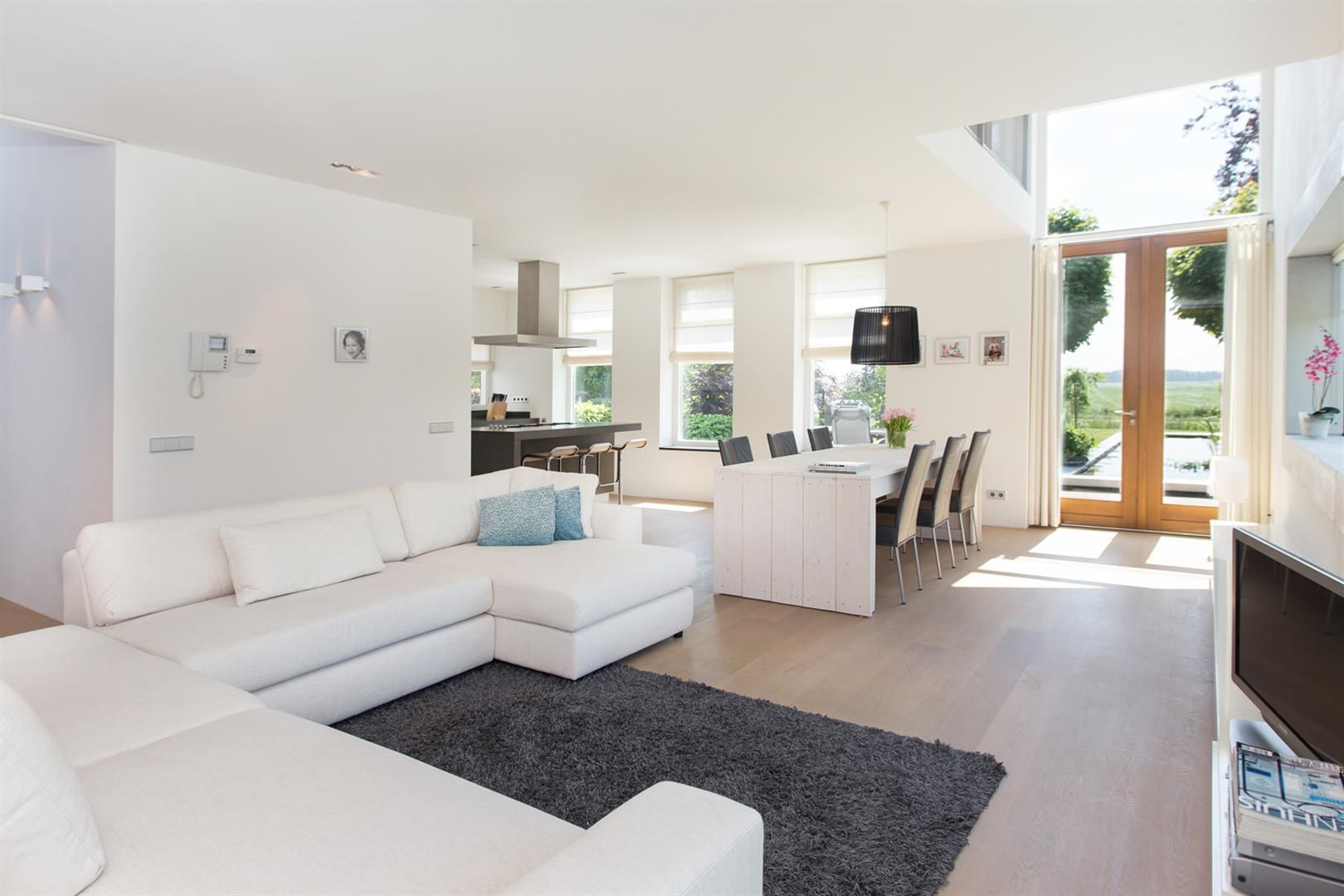 Zithoek moderne landelijke woning droomhuis pinterest for Interieur huizen