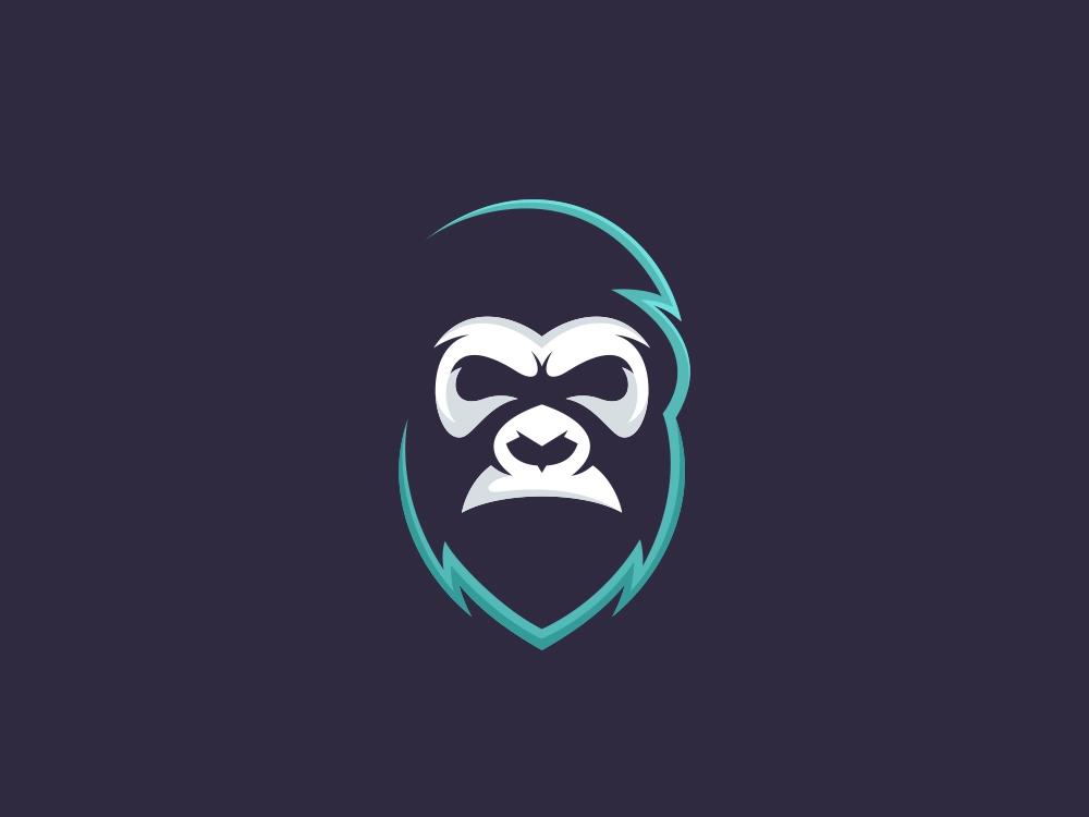 Gorilla Simple Logo Simple Logo Pet Logo Design Monkey Art