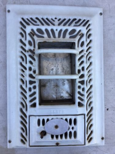 Antique Art Deco Porcelain Radiant Vintage Gas Wall Heater Bathroom 1920