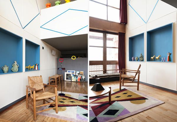 Le Corbusier vs Alessandro Mendini: Appartement N° 50 - Elle Decor ...