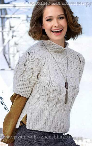 Вязанные пуловеры свитера