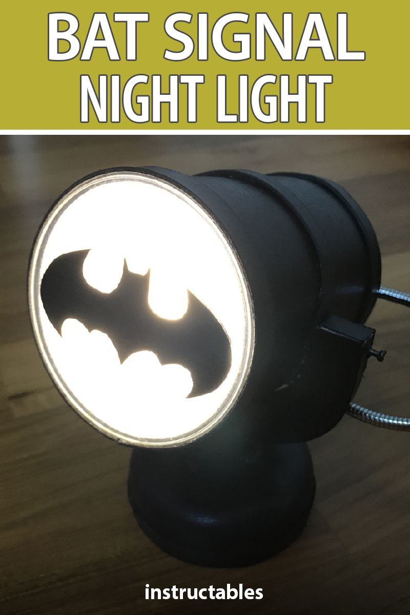 Bat Signal Night Light   Diy outdoor lighting, Outdoor