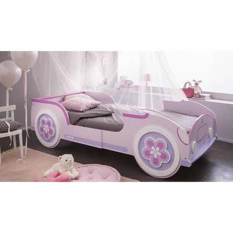 auto bett lady car rosa violett ausziehbar 90x190 200 kinderbetten pinterest bett. Black Bedroom Furniture Sets. Home Design Ideas