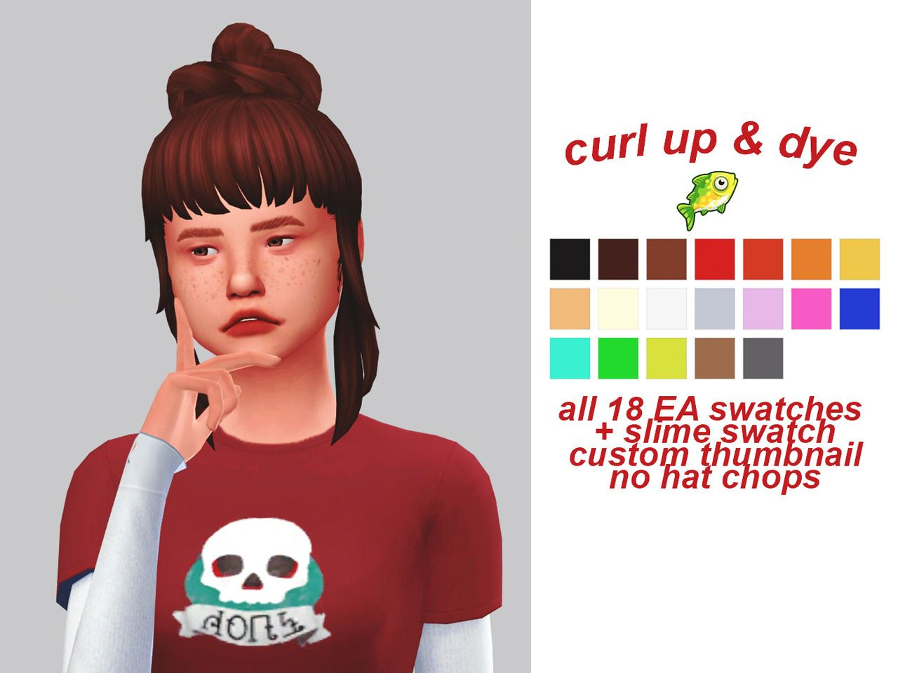 Lana CC Finds - (gloomfish) curl up & dye | Sims4 | Sims
