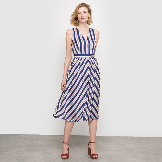 Sleeveless Striped Maxi Dress LAURA CLEMENT