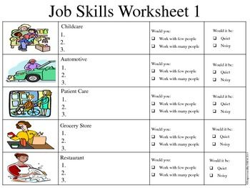 Job Skills Assessments  Life Skills Special Education And School