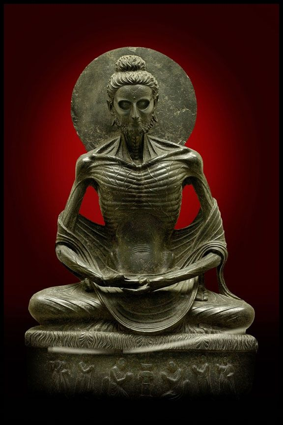 Fasting Buddha Gandhara Sculpture 2nd Century Lahore Museum Buddha Art Buddhist Art Buddha