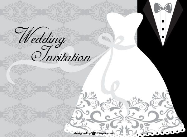 Wedding Dress Card Design Template Wedding Cards Wedding Invitation Card Design Wedding Dress Invitations