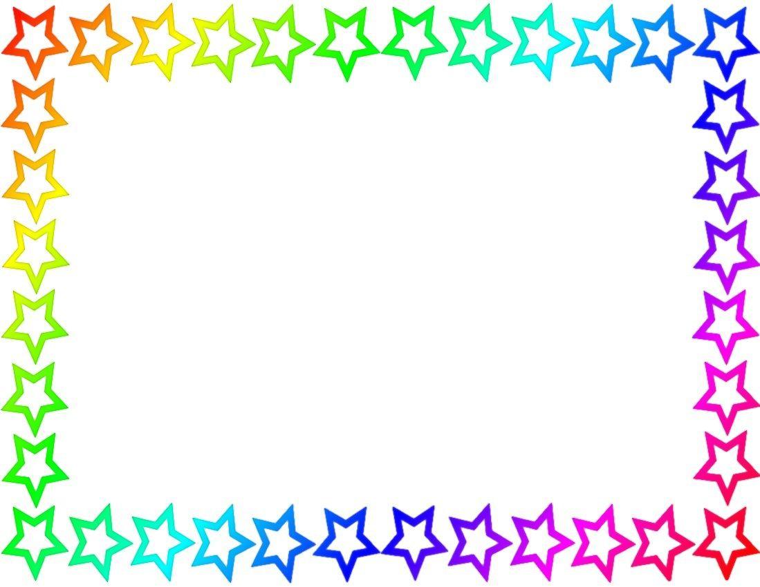 Rainbow Star Border Page cakepinscom grad Pinterest Rainbow