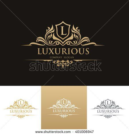 Luxury Logo,Vector logo template kizz clothes Pinterest Luxury - best of luxury invitation vector