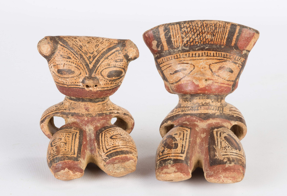 Two Pre Columbian Costa Rican Ceramic Whistles Cottone Auctions In 2020 Columbian Costa Rican Ethnographic Art