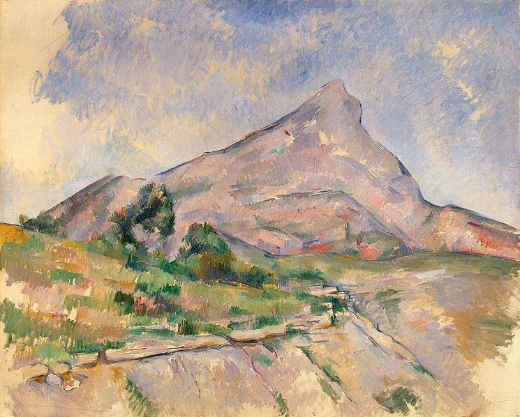 Mont Sainte-Victoire, landscape painting by Paul Cezanne, c. 1897. Housed at the Hermitage Museum, St Petersburg