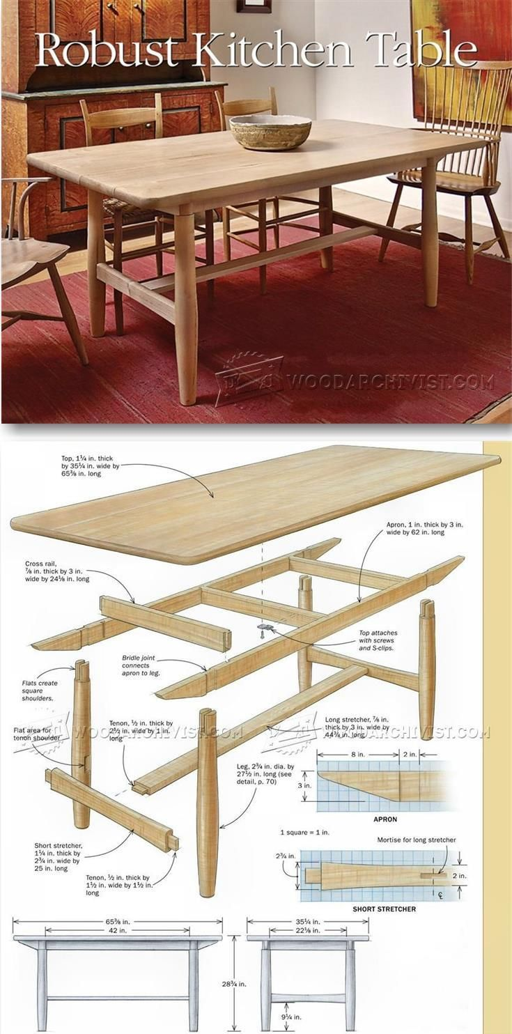 Build Kitchen Table - Furniture Plans and Projects | WoodArchivist ...