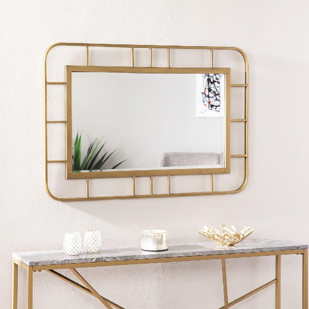 Clara Decorative Rectangular Wall Mirror Southern Enterprises