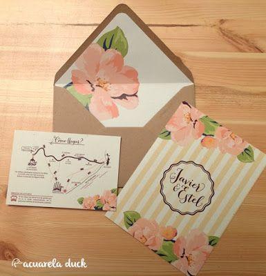 Invitaciones de boda invitaci n kraft sobre forrado - Macetas originales para plantas ...