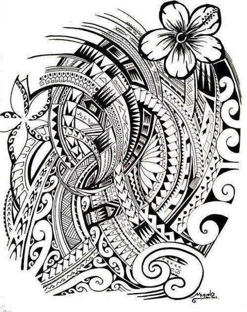 Plantillas Tatuajes Polinesios Maorie Samoano Zen Tangle