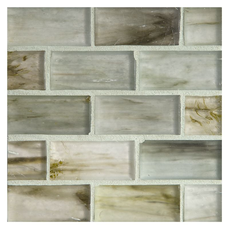 Complete Tile Collection Zumi Structured Gl Selium Silk Finish 1 X 2 Brick Mosaic Mi 038 G2 274 321 70 Recycled Content Ecofriendly