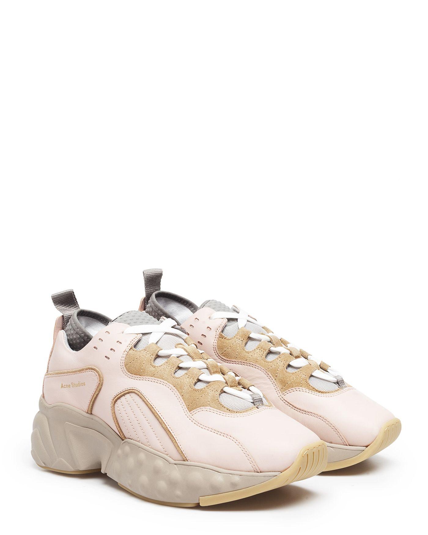Acne Studios Manhattan Nappa PinkBeige Sneakers