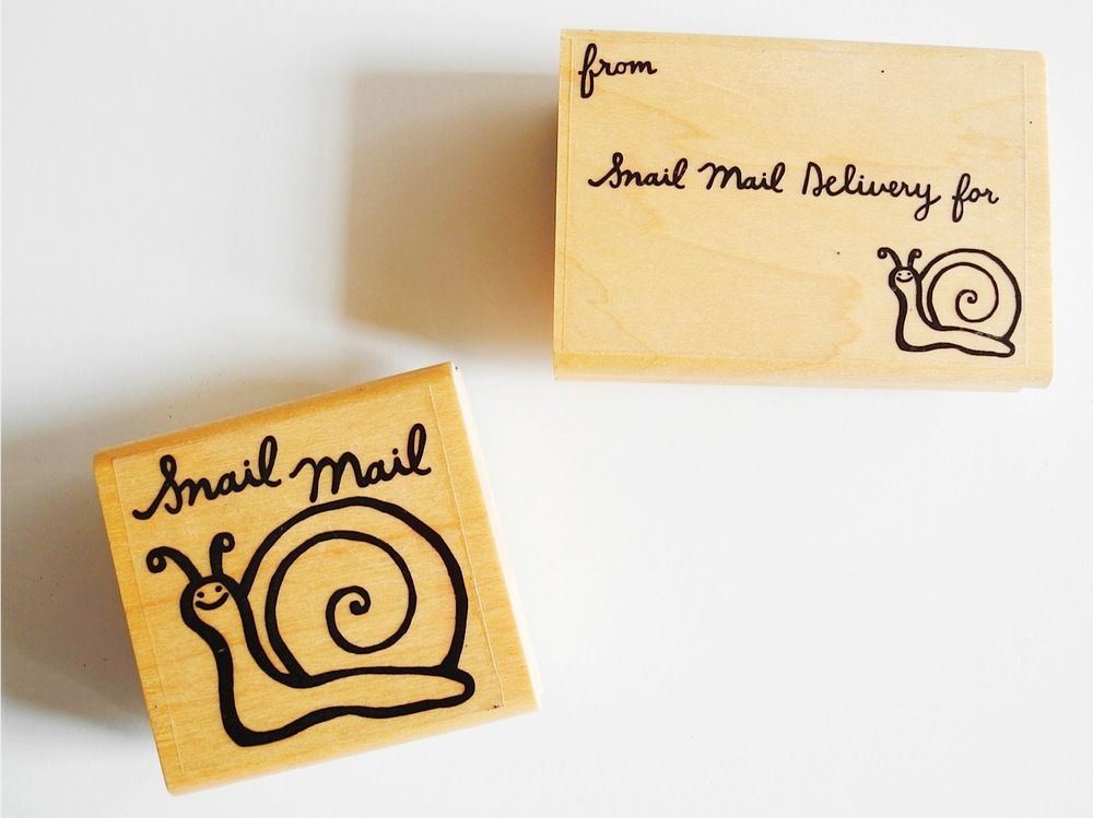 Snail Mail Rubber Stamps / Paper Pastries Confections for