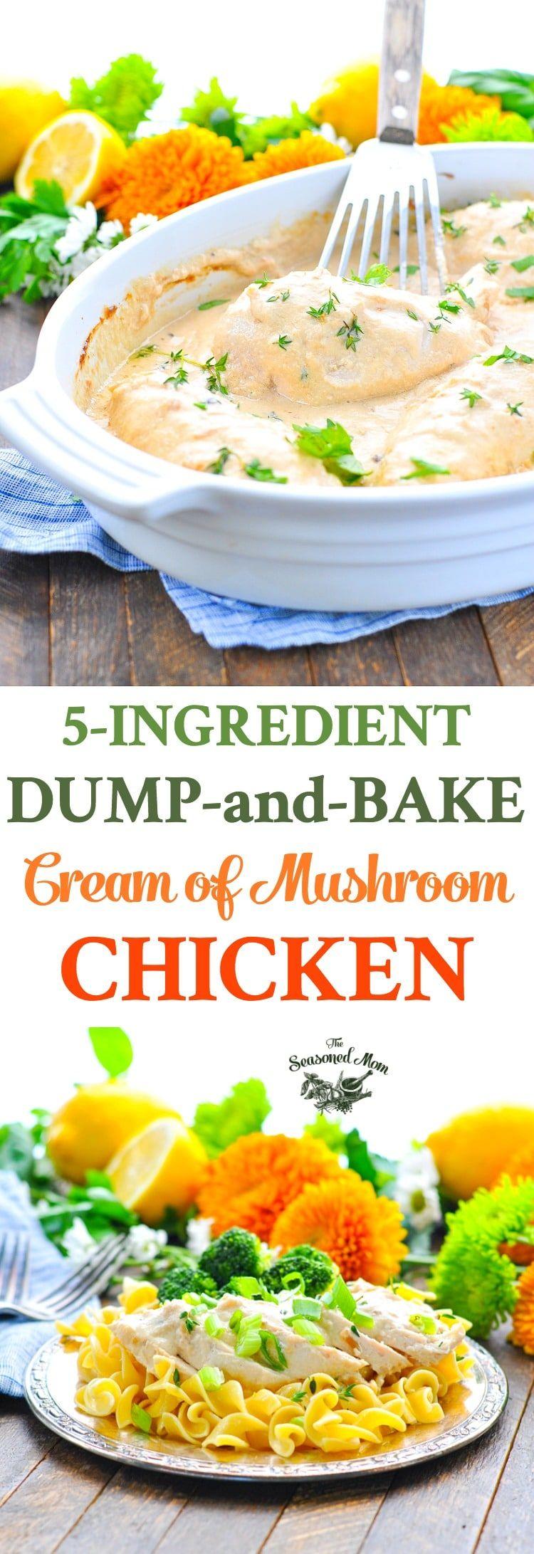 Dump-and-Bake Cream of Mushroom Chicken