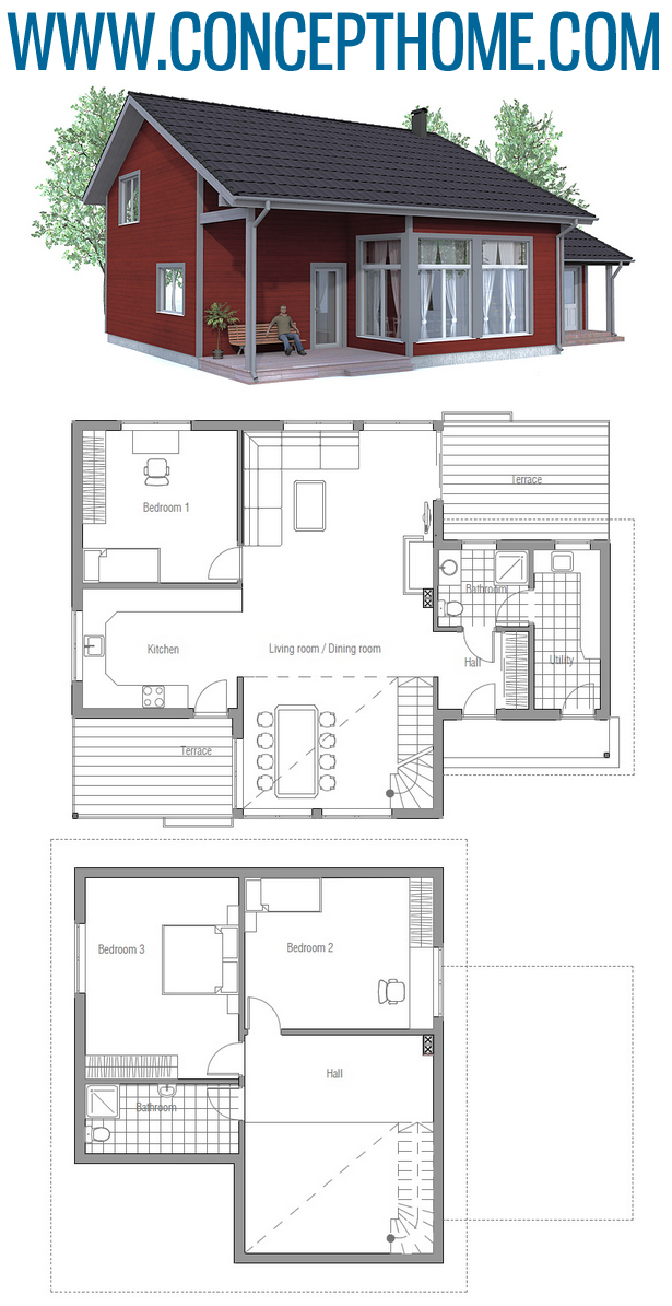 Affordable Home Plan Ch92 House Plans Cabin House Plans Family House Plans