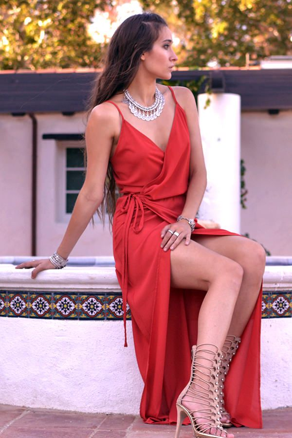 Cassie Wrap Maxi Dress | Dresses | Pinterest | Vestidos fiestas ...