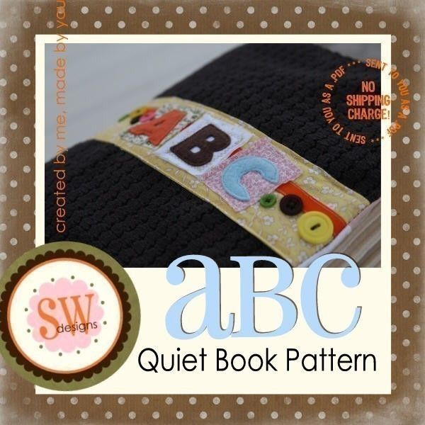 PATTERN for ABC Activity Book - all 26 letters - pdf $2150, via - letters in pdf