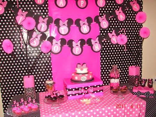 Decoración de Fiestas Infantiles de Minnie Mouse : Fiestas ...
