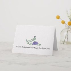 onelegged king pigeon pose greeting card  zazzle